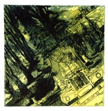 Artist: ROONEY, Elizabeth | Title: Under Pines, Old Berrima | Technique: softground-etching and sugar lift aquatint printed intaglio and relief in colour, from one zinc plate