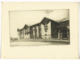 Artist: PLATT, Austin | Title: Canterbury High School Sydney | Date: 1937 | Technique: etching, printed in black ink, from one plate