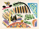 Artist: LANCELEY, Colin | Title: South Coast garden | Date: 1988 | Technique: lithograph, printed in colour, from five stones [or plates]