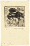 Artist: WALKER, Murray | Title: Jennifer sleeping | Date: 1965 | Technique: drypoint, printed in black ink, from one plate