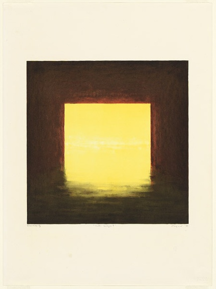 Artist: MAGUIRE, Tim | Title: Under bridges I | Date: 1989, April | Technique: lithograph, printed in colour, from six aluminium plates | Copyright: © Tim Maguire
