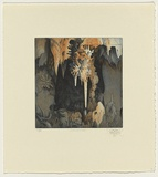 Title: Jenolan Caves, New South Wales | Date: 1989 | Technique: etching, printed in blue and orange ink, from one plate