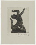 Artist: SELLBACH, Udo | Title: Untitled | Date: 1987 | Technique: etching, printed in black ink, from one copper plate