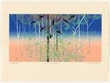 Artist: HADLEY, Basil | Title: Kakadu cockatoos. | Date: 1988 | Technique: screenprint, printed in colour, from seven stencils