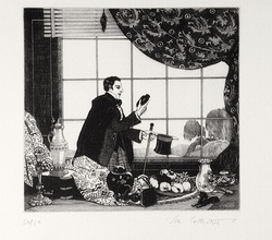 Artist: FEINT, Adrian | Title: The collector. | Date: (1925) | Technique: etching, printed in black ink, from one plate | Copyright: Courtesy the Estate of Adrian Feint