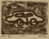 Artist: BOWEN, Dean | Title: Car | Date: 1992 | Technique: etching, printed in black ink, from one plate