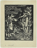 Artist: WALLER, Christian | Title: (Joan of Arc). | Date: c.1928 | Technique: linocut, printed in black ink, from one block