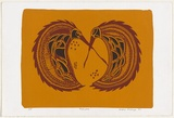 Artist: OMEENYO, Gregory | Title: Kaa'uma | Date: 1997, August | Technique: screenprint, printed in colour, from multiple stencils