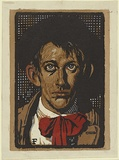 Artist: FLETT, James | Title: The artist. | Date: 1928 | Technique: linocut, printed in colour, from multiple blocks