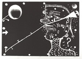 Artist: SANSOM, Gareth | Title: YE84 | Date: 1994 | Technique: etching, relief printed in black ink, from one plate