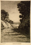 Artist: COBB, Victor | Title: Old Heidelberg Road. | Date: 1914 | Technique: etching, printed in warm black ink with plate-tone, from one plate