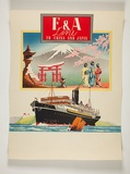 Artist: BURDETT, Frank | Title: E & A Line, to China and Japan. | Date: (1934-39) | Technique: lithograph, printed in colour, from multiple stones [or plates]