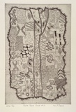 Artist: DARROCH, Lee J. | Title: Yorta Yorta cloak #2 | Date: 2000, October | Technique: etching, printed in black ink, from one plate | Copyright: © Lee Darroch, artist
