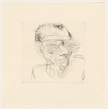Title: S.P. | Date: 1984 | Technique: drypoint, printed in black ink, from one perspex plate