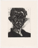Artist: FAIRBAIRN, David | Title: D.B | Date: 2004 | Technique: etching and aquatint, printed in black ink, from one plate