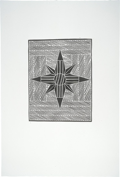 Artist: MARIKA, Banduk | Title: Yalangbara Suite | Date: 2000 | Technique: linocut, printed in black ink, from one block