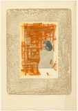 Title: A rather transparent girl, No.I | Date: 1967 | Technique: rough-biting?; etching; ?, printed in colour from four plates