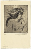 Artist: WALKER, Murray | Title: Jennifer | Date: 1965 | Technique: drypoint, printed in black ink, from one plate