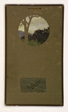 Artist: DERHAM, Frances | Title: Calendar: Sunset, Narbethong. | Date: 1910 | Technique: stencil, printed in colour