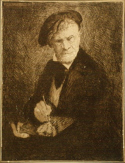 Artist: SHIRLOW, John | Title: Self-portrait | Date: 1930 | Technique: etching, printed in brown ink with plate-tone, from one copper plate