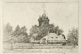 Artist: SIDMAN, William | Title: (Observatory building) | Date: 1890s | Technique: etching, printed in black ink, from one copper plate