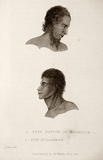 Title: 1. Aged native of Otaheite. 2. New Hollander | Date: 1827 | Technique: engraving, printed in black ink, from one copper plate