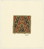Title: Kait krek [Hook and cross] | Date: 2007 | Technique: engraving, printed in colour, from two copper plates