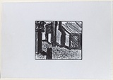 Artist: MADDOCK, Bea | Title: (Old hotel) | Date: c.1982 | Technique: relief-etching, printed in black ink, from one plate