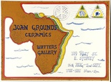 Artist: LITTLE, Colin | Title: Joan Grounds ceramics: Watters Gallery, [Sydney 16 August - 2 September 1972] [1]. | Date: 1972 | Technique: screenprint, printed in colour, from multiple stencils