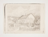 Title: Old cottage Berry's Bay | Date: c.1909 | Technique: lithograph, printed in grey ink, from one stone [or plate]