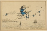 Title: Captain Dick Demi-Solde on a Wild Goose Flight to the Swan River. | Date: 1829 | Technique: lithograph, printed in black ink, from one stone; hand-coloured