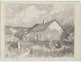 Artist: LINDSAY, Lionel | Title: Old house Berry's Bay. | Date: c.1909 | Technique: lithograph, printed in grey ink, from one stone | Copyright: Courtesy of the National Library of Australia