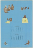 Artist: JOHNSON, Tim | Title: Calendar: September, October | Date: 1981 | Technique: screenprint, printed in colour, from multiple stencils | Copyright: © Tim Johnson