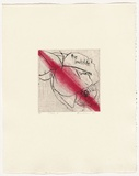 Artist: HEADLAM, Kristin | Title: Oh Rose IV | Date: 1997 | Technique: aquatint and drypoint, printed in colour, from two copper plates