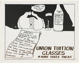Artist: MACKINOLTY, Chips | Title: Union tuition classes | Date: 1975 | Technique: screenprint, printed in colour, from one stencil