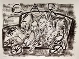 Artist: ALLEN, Davida | Title: Car | Date: 1989, March | Technique: lithograph, printed in black ink, from one stone