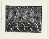 Artist: BOX, Chris | Title: Years as trolleys | Date: 1999, November | Technique: linocut, printed in black ink, from one block