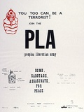 Artist: LITTLE, Colin | Title: You too can be a terrorist! Join the PLA Peoples Liberation Army | Date: 1972 | Technique: screenprint, printed in colour, from two stencils