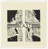 Artist: MARSDEN, David | Title: C.A.S.T | Date: 1992 | Technique: woodcut, found objects, metal grid, printed in black ink, from two blocks