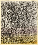 Artist: NOLAN, Sidney | Title: Carcas | Date: c.1950 | Technique: transfer drawing with fabric dye