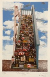 Artist: NIVEN, Virginia | Title: Cannery row | Date: 1993 | Technique: photo-litho from collage, printed in colour from multiple plates