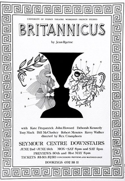 Artist: STEJSKAL, Josef Lada | Title: Britannicus by Jean Racine... directed by Rex Cramphorn ... Seymour Centre Downstairs | Date: 1980 | Technique: offset-lithograph
