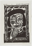 Artist: KLEIN, Deborah | Title: Je suis artiste | Date: 1996 | Technique: linocut, printed in black ink, from one block