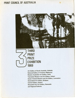 <p><span>Print Council of Australia: Third Print Prize Exhibition 1969.</span></p>