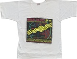 Artist: REDBACK GRAPHIX | Title: T-shirt: Bush Radio. | Date: 1986 | Technique: screenprint, printed in colour, from four stencils | Copyright: © Michael Callaghan, Redback Graphix