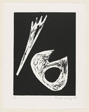 Title: Untitled. | Date: 1999 | Technique: linocut, printed in black ink, from one block