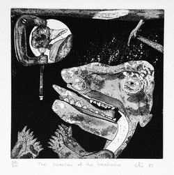 Artist: ELLIS, Peter | Title: The invention of the headache. | Date: 1981 | Technique: etching and aquatint, printed in black ink, from one plate
