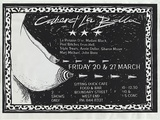 Artist: BONE, Melissa | Title: Cabaret La Bella. | Date: 1992, March | Technique: screenprint, printed in black ink, from one photo-stencil