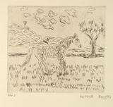 Artist: ROGERS, Nipper Sweeney | Title: Yawarta (horse) | Date: 1994, October - November | Technique: etching, printed in black ink, from one plate