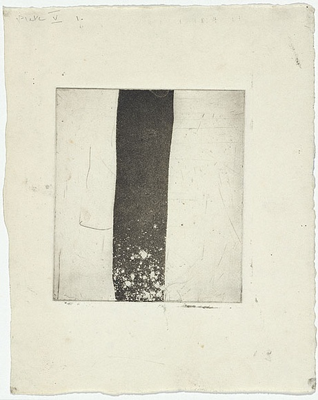 Artist: MADDOCK, Bea | Title: Calligraphy | Date: 1959 | Technique: aquatint and foul biting, printed in black ink, from one copper plate